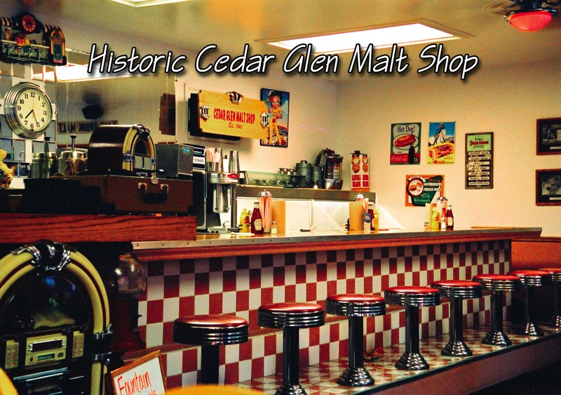 Cedar Glen Malt Shop Postcard
